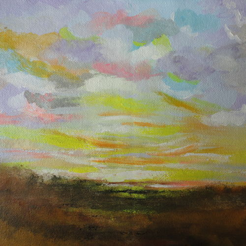 distant skies !! abstract landscape !!, 11 x 9 inch, amita dand,paintings,abstract paintings,nature paintings,paintings for dining room,paintings for living room,paintings for office,paintings for bathroom,paintings for hotel,paintings for hospital,canvas,acrylic color,11x9inch,GAL0146715005Nature,environment,Beauty,scenery,greenery