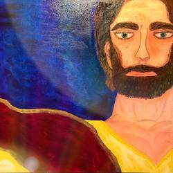 vision  of jesus, 20 x 25 inch, renee  biswas,paintings,portrait paintings,art deco paintings,realism paintings,realistic paintings,canvas,acrylic color,20x25inch,GAL0657715008