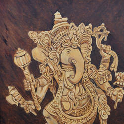 ganesha ,vinayak, 24 x 36 inch, ajay harit,paintings,figurative paintings,religious paintings,expressionist paintings,ganesha paintings,paintings for dining room,paintings for living room,paintings for office,paintings for hotel,paintings for school,paintings for hospital,paintings for dining room,paintings for living room,paintings for office,paintings for hotel,paintings for school,paintings for hospital,canvas,oil,24x36inch,GAL0199815011,vinayak,ekadanta,ganpati,lambodar,peace,devotion,religious,lord ganesha,lordganpati,ganpati,ganesha,lord ganesh,elephant god,religious,ganpati bappa morya,mouse,mushakraj,ladoo,sweets,gada,lotus,trishul