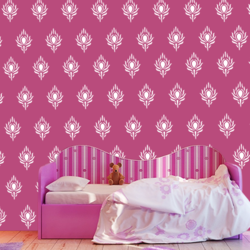 wall stencil: beautiful modern wall design stencil, 1 stencil (size 12x12 inches) | reusable | diy, 12 x 12 inch, wall stencil designs,12x12inch,ohp plastic sheets,flower designs,plastic,GAL0115039,GAL0115039,GAL0115039,GAL0115039