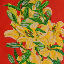 yellow flowers, 24 x 36 inch, ajay harit,paintings,flower paintings,paintings for dining room,paintings for living room,paintings for bedroom,paintings for office,paintings for bathroom,paintings for kids room,paintings for hotel,paintings for kitchen,paintings for school,paintings for hospital,canvas,acrylic color,24x36inch,GAL0199815043