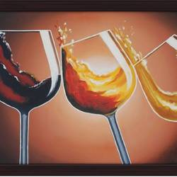 glasses with wine, 36 x 24 inch, jyothi katkuri,still life paintings,realistic paintings,paintings for dining room,paintings for hotel,paintings for dining room,paintings for hotel,paintings for living room,paintings for bedroom,paintings for office,paintings for bathroom,paintings for kitchen,canvas board,oil,36x24inch,GAL0659915045