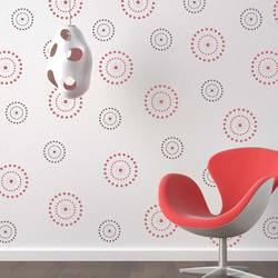 wall stencil: beautiful circle design wall stencil , 1 stencil (size 12x12 inches) | reusable | diy, 12 x 12 inch, wall stencil designs,12x12inch,ohp plastic sheets,flower designs,plastic,GAL0115051,GAL0115051,GAL0115051,GAL0115051