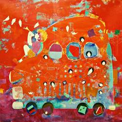 the childhood xiv, 48 x 48 inch, shiv kumar soni,figurative paintings,modern art paintings,baby paintings,children paintings,kids paintings,paintings for dining room,paintings for living room,paintings for bedroom,paintings for office,paintings for kids room,paintings for hotel,paintings for kitchen,paintings for school,paintings for hospital,paintings for bathroom,canvas,acrylic color,fabric,mixed media,48x48inch,GAL03015062