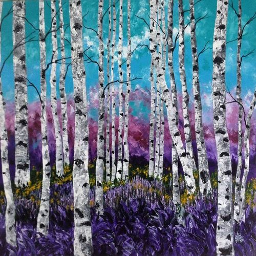 purple luv, 30 x 35 inch, shilpi singh patel,nature paintings,paintings for office,paintings,canvas,acrylic color,30x35inch,GAL04551507Nature,environment,Beauty,scenery,greenery