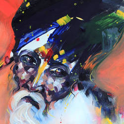 saga's conscience-1, 12 x 16 inch, bijendra  pratap ,abstract paintings,paintings for office,ivory sheet,acrylic color,12x16inch,GAL04531509