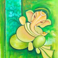 ganesha -3, 11 x 13 inch, a.b.  kaser,paintings,figurative paintings,ganesha paintings,paintings for dining room,paintings for living room,paintings for office,paintings for kids room,paintings for dining room,paintings for living room,paintings for office,paintings for kids room,canvas,acrylic color,11x13inch,GAL063615090,vinayak,ekadanta,ganpati,lambodar,peace,devotion,religious,lord ganesha,lordganpati,ganpati bappa morya,ganesh chaturthi,ganesh murti,elephant god,religious,lord ganesh,ganesha,om,hindu god,shiv parvati, putra,bhakti,blessings,aashirwad,pooja,puja,aarti,ekdant,vakratunda,lambodara,bhalchandra,gajanan,vinayak,prathamesh,vignesh,heramba,siddhivinayak,mahaganpati,omkar,mushak,mouse,ladoo,modak