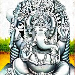 lord ganesha, 20 x 24 inch, madhuri yadav,paintings,ganesha paintings,paintings for living room,paintings for office,paintings for hospital,canvas,oil,20x24inch,GAL0663915130,vinayak,ekadanta,ganpati,lambodar,peace,devotion,religious,lord ganesha,lordganpati,ganpati,ganesha,lord ganesh,elephant god,religious,ganpati bappa morya,mouse,mushakraj,ladoo,sweets,ganpati bappa morya,ganesh chaturthi,ganesh murti,elephant god,religious,lord ganesh,ganesha,om,hindu god,shiv parvati, putra,bhakti,blessings,aashirwad,pooja,puja,aarti,ekdant,vakratunda,lambodara,bhalchandra,gajanan,vinayak,prathamesh,vignesh,heramba,siddhivinayak,mahaganpati,omkar,mushak,mouse,ladoo,modak