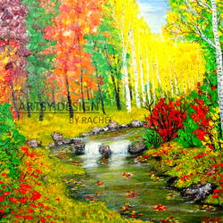 colorful trees, 24 x 18 inch, rachel a,paintings,landscape paintings,nature paintings,paintings for dining room,paintings for living room,paintings for bedroom,paintings for office,paintings for bathroom,paintings for hotel,paintings for kitchen,paintings for school,paintings for hospital,canvas board,acrylic color,24x18inch,GAL0659215139Nature,environment,Beauty,scenery,greenery