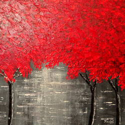 red trees, 20 x 16 inch, rachel a,paintings,abstract paintings,landscape paintings,modern art paintings,nature paintings,abstract expressionist paintings,art deco paintings,contemporary paintings,paintings for dining room,paintings for living room,paintings for bedroom,paintings for office,paintings for bathroom,paintings for kids room,paintings for hotel,paintings for kitchen,paintings for school,paintings for hospital,canvas board,acrylic color,20x16inch,GAL0659215153Nature,environment,Beauty,scenery,greenery