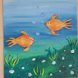 3d aquarium, 18 x 24 inch, sonam khurana,paintings,nature paintings,contemporary paintings,canvas,ceramic work,oil,18x24inch,GAL0544715172Nature,environment,Beauty,scenery,greenery