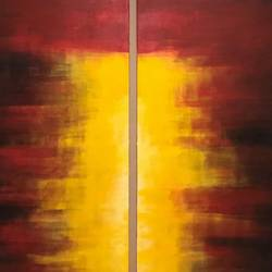 the morning sun, 30 x 40 inch, mahir rastogi,paintings,abstract paintings,canvas,acrylic color,30x40inch,GAL02215176