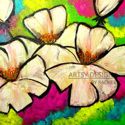 white flowers, 18 x 14 inch, rachel a,paintings,abstract paintings,flower paintings,modern art paintings,nature paintings,art deco paintings,contemporary paintings,paintings for dining room,paintings for living room,paintings for bedroom,paintings for office,paintings for bathroom,paintings for kids room,paintings for hotel,paintings for kitchen,paintings for school,paintings for hospital,canvas board,acrylic color,18x14inch,GAL0659215178Nature,environment,Beauty,scenery,greenery