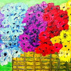 colorful  flowers, 24 x 12 inch, rachel a,paintings,abstract paintings,flower paintings,modern art paintings,still life paintings,nature paintings,art deco paintings,impressionist paintings,paintings for dining room,paintings for living room,paintings for bedroom,paintings for office,paintings for bathroom,paintings for kids room,paintings for hotel,paintings for kitchen,paintings for school,paintings for hospital,canvas board,acrylic color,24x12inch,GAL0659215182Nature,environment,Beauty,scenery,greenery