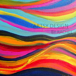 colorful  waves, 16 x 12 inch, rachel a,paintings,abstract paintings,modern art paintings,abstract expressionist paintings,expressionist paintings,contemporary paintings,paintings for dining room,paintings for living room,paintings for bedroom,paintings for office,paintings for bathroom,paintings for kids room,paintings for hotel,paintings for kitchen,paintings for school,paintings for hospital,canvas board,acrylic color,16x12inch,GAL0659215194