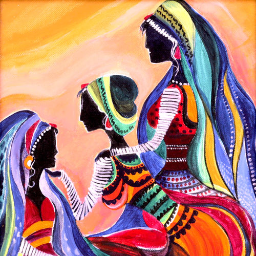 mother, 9 x 12 inch, amrita das,modern art paintings,paintings for bedroom,canvas,acrylic color,9x12inch,GAL050152