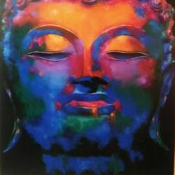 lord buddha, 30 x 48 inch, ravi pillay,paintings,buddha paintings,paintings for living room,paintings for office,paintings for hotel,paintings for hospital,canvas,acrylic color,30x48inch,religious,peace,meditation,meditating,gautam,goutam,buddha,lord,colourful,face,GAL0668215201