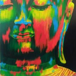 lord buddha 2, 24 x 36 inch, ravi pillay,paintings,buddha paintings,paintings for living room,paintings for office,paintings for hotel,paintings for hospital,paintings for living room,paintings for office,paintings for hotel,paintings for hospital,canvas,acrylic color,24x36inch,religious,peace,meditation,meditating,gautam,goutam,buddha,lord,colourful,face,GAL0668215203