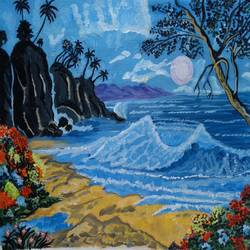 the sea landscape, 16 x 12 inch, abhik mahanti,paintings,landscape paintings,canvas,acrylic color,16x12inch,GAL0404415224