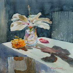still life 2, 12 x 16 inch, navnath  niphade,modern art paintings,realistic paintings,handmade paper,watercolor,12x16inch,GAL0670015233