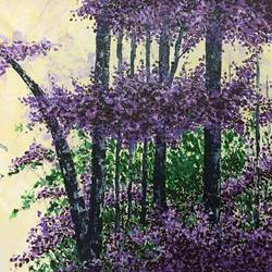 purple jungle, 38 x 26 inch, shilpi singh patel,flower paintings,nature paintings,impressionist paintings,paintings for office,canvas,acrylic color,38x26inch,GAL045515254Nature,environment,Beauty,scenery,greenery
