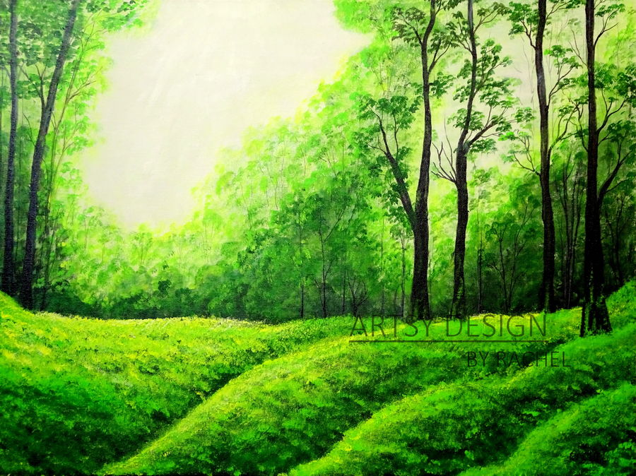 magical glade, 24 x 18 inch, rachel a,paintings,foil paintings,still life paintings,nature paintings,art deco paintings,realism paintings,realistic paintings,paintings for dining room,paintings for living room,paintings for bedroom,paintings for office,paintings for bathroom,paintings for kids room,paintings for hotel,paintings for kitchen,paintings for school,paintings for hospital,canvas board,acrylic color,24x18inch,GAL0659215259Nature,environment,Beauty,scenery,greenery,tree,leaf