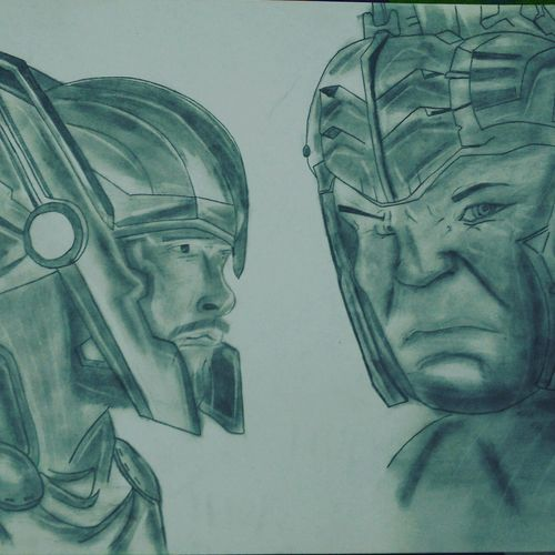 thor vs hulk, 12 x 17 inch, harshit bhardwaj,drawings,paintings for living room,paintings for bedroom,paintings for kids room,paintings for hotel,paintings for school,portrait drawings,street art,paintings for living room,paintings for bedroom,paintings for kids room,paintings for hotel,paintings for school,drawing paper,graphite pencil,12x17inch,GAL0274315262