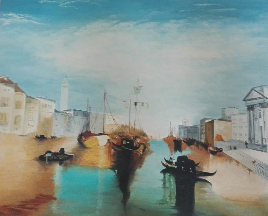 venice, 75 x 60 inch, ashwin  prakash,nature paintings,paintings for living room,canvas,oil,75x60inch,GAL06201527Nature,environment,Beauty,scenery,greenery