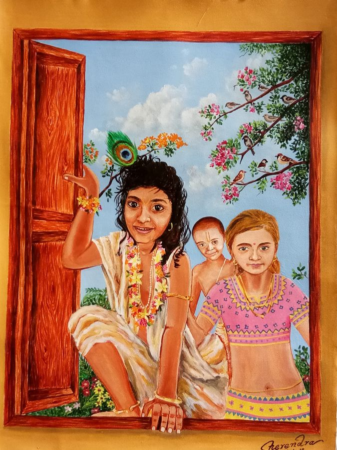 gang of thieves , 18 x 24 inch, herendra swarup,paintings,figurative paintings,religious paintings,portrait paintings,portraiture,radha krishna paintings,children paintings,kids paintings,paintings for dining room,paintings for living room,paintings for bedroom,paintings for office,paintings for kids room,paintings for hotel,paintings for kitchen,paintings for school,paintings for hospital,paintings for dining room,paintings for living room,paintings for bedroom,paintings for office,paintings for kids room,paintings for hotel,paintings for kitchen,paintings for school,paintings for hospital,canvas,acrylic color,18x24inch,GAL0346915299,kid,krishna,ferinds,lordkrishna,