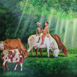 mera yaar sudama (my friend sudama) , 24 x 18 inch, herendra swarup,paintings,figurative paintings,religious paintings,portrait paintings,nature paintings,portraiture,animal paintings,radha krishna paintings,children paintings,kids paintings,paintings for dining room,paintings for living room,paintings for bedroom,paintings for office,paintings for kids room,paintings for hotel,paintings for kitchen,paintings for school,paintings for hospital,paintings for dining room,paintings for living room,paintings for bedroom,paintings for office,paintings for kids room,paintings for hotel,paintings for kitchen,paintings for school,paintings for hospital,canvas,acrylic color,24x18inch,babykrishna,krishna,lord,GAL0346915300Nature,environment,Beauty,scenery,greenery