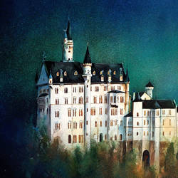 the castle in germany, 30 x 22 inch, sumit  datta,paintings,realistic paintings,thick paper,mixed media,30x22inch,GAL0253015326