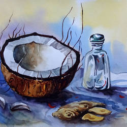 still life 13, 11 x 9 inch, sumit  datta,paintings,still life paintings,realism paintings,realistic paintings,thick paper,watercolor,11x9inch,GAL0253015335