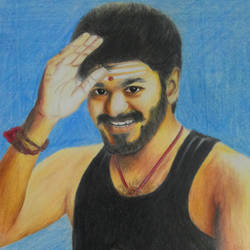 tamil film actor vijay colour pencil, 10 x 12 inch, rijoy  emmanuel,drawings,figurative drawings,portrait drawings,realism drawings,drawing paper,acrylic color,pencil color,10x12inch,GAL0643115336