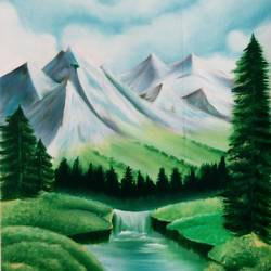 green nature , 14 x 21 inch, shaily mahor,nature paintings,paintings for dining room,paintings for living room,paintings for bedroom,paintings for hotel,thick paper,oil,14x21inch,GAL0655215344Nature,environment,Beauty,scenery,greenery