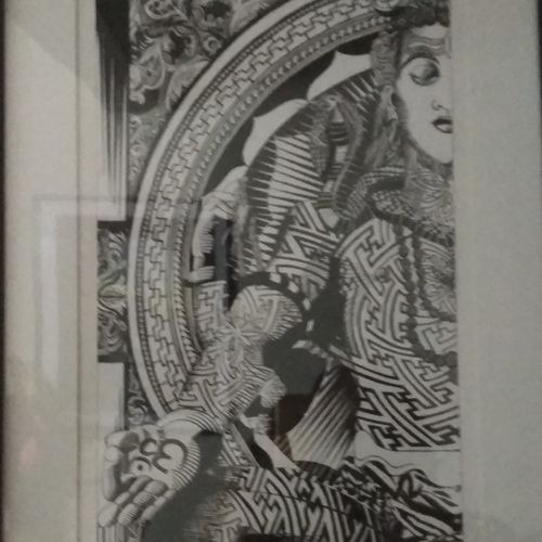 half shiva, 12 x 30 inch, kailash apartment,abstract drawings,portrait drawings,paintings for living room,lord shiva paintings,drawing paper,pen color,12x30inch,GAL0458715361