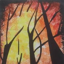 sun, 11 x 15 inch, vibhashri sole,abstract paintings,modern art paintings,paper,watercolor,11x15inch,GAL0677715363