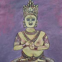 meditating budha, 18 x 24 inch, surendra kumar,buddha paintings,paintings for dining room,paintings for living room,paintings for office,paintings for hotel,paintings for school,paintings for dining room,paintings for living room,paintings for office,paintings for hotel,paintings for school,paintings,canvas,oil,18x24inch,religious,peace,meditation,meditating,gautam,goutam,buddha,lord,idol,mudra,purple,GAL0507515376