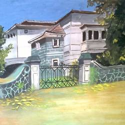 beautiful bungalow with green nature. , 8 x 12 inch, saurav choudhury,paintings,nature paintings,paintings for dining room,paintings for living room,paintings for bedroom,paintings for hotel,paintings for dining room,paintings for living room,paintings for bedroom,paintings for hotel,thick paper,poster color,8x12inch,GAL0679215378Nature,environment,Beauty,scenery,greenery