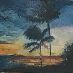 sunset shades, 12 x 10 inch, anju khandelwal,paintings,landscape paintings,nature paintings,paintings for living room,paintings for hotel,canvas,oil,12x10inch,GAL0673415384Nature,environment,Beauty,scenery,greenery