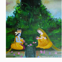 radha krishna worshipping shivji, 28 x 40 inch, purvii parekh,paintings,radha krishna paintings,paintings for hotel,canvas,oil,28x40inch,GAL0340015396,radhakrishna,love,pece,lordkrishna,,lordradha,peace,radha,krishna,devotion,couple