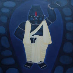 shreenathji in snanyatra, 24 x 36 inch, purvii parekh,religious paintings,paintings for hotel,canvas,oil,24x36inch,GAL0340015398