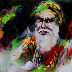 sufism, 24 x 18 inch, bijendra  pratap ,paintings for dining room,paintings for living room,paintings for office,figurative paintings,portraiture,brustro watercolor paper,acrylic color,24x18inch,GAL04531542