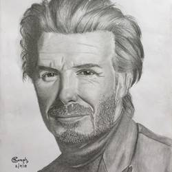 david beckham , 8 x 11 inch, tharesh kumar k g,drawings,portrait drawings,paintings for dining room,paintings for living room,paintings for office,paintings for hotel,paper,pencil color,8x11inch,GAL0682715450