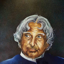 dr.  a p j abdul kalam, 22 x 30 inch, sumit  datta,paintings,portrait paintings,realism paintings,thick paper,mixed media,natural color,poster color,watercolor,22x30inch,GAL0253015483