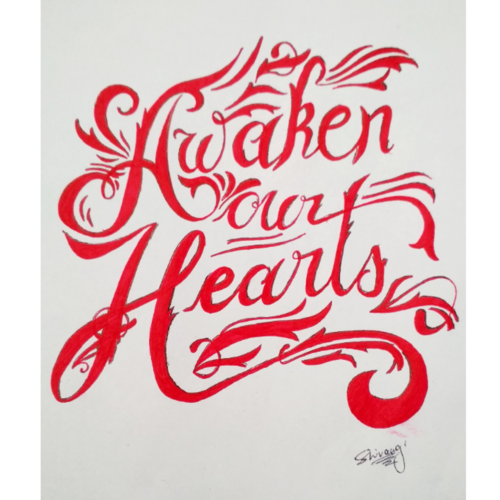 awaken your heart, 8 x 12 inch, shivangi  sharma,drawings,abstract drawings,fine art drawings,paintings for dining room,paintings for living room,paintings for bedroom,paintings for office,paintings for hotel,drawing paper,ball point pen,8x12inch,GAL0601915531
