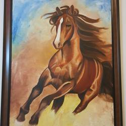 the running horse, 30 x 42 inch, navya singh,paintings,horse paintings,paintings for living room,paintings for hotel,paintings for school,paintings for living room,paintings for hotel,paintings for school,canvas,oil,30x42inch,GAL0686815545