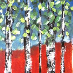 beautiful forest 1, 11 x 16 inch, solina kumar,paintings,landscape paintings,contemporary paintings,paintings for dining room,paintings for office,paintings for hotel,canvas,acrylic color,11x16inch,GAL0465115582