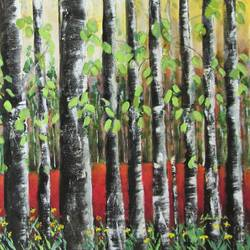 colorful forest, 27 x 18 inch, solina kumar,paintings,landscape paintings,nature paintings,paintings for dining room,paintings for living room,paintings for bedroom,paintings for office,canvas,acrylic color,27x18inch,GAL0465115588Nature,environment,Beauty,scenery,greenery