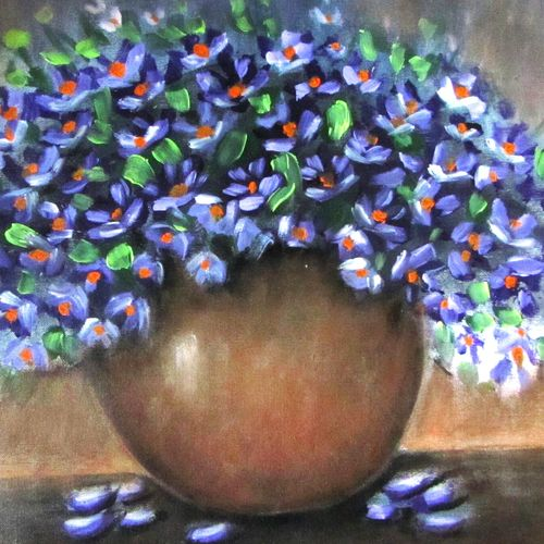 warm and cozy boquet, 27 x 18 inch, solina kumar,paintings,flower paintings,abstract expressionist paintings,contemporary paintings,paintings for dining room,paintings for living room,paintings for hotel,canvas,acrylic color,27x18inch,GAL0465115607