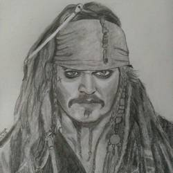 captain jack sparrow, 9 x 11 inch, vinaya  narayanan,drawings,portrait drawings,paintings for dining room,paintings for bedroom,paintings for kids room,thick paper,graphite pencil,9x11inch,GAL0690715614